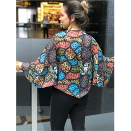 BLUSA CHALE PATCHW WORK FRIDA MEXICO